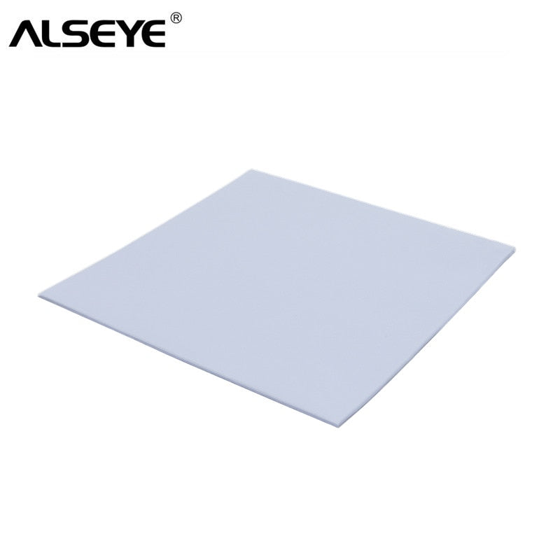 ALSEYE Thermal Pad 2W 100 x 100 x 1.25mm Thermal Grease Heatsink Cooling Pad mm for CPU GPU Heat Sinks