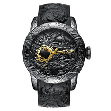Load image into Gallery viewer, MEGALITH Fashion Gold Dragon Sculpture Watch Men Quartz Watch Waterproof Big Dial Sport Watches Men Watch Top Luxury Brand Clock