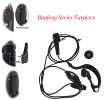 Load image into Gallery viewer, 2 PIN Earpiece Headset PTT with Microphone Walkie Talkie Ear Hook Interphone Earphone for BAOFENG UV5R Plus BF-888S UM