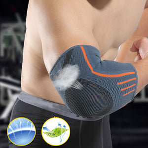 New 1 Pcs Breathable Compression Sleeve Elbow Brace Support Protector for Weightlifting Arthritis Volleyball Tennis Arm Brace