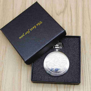 Brand Vintage Bronze Doctor Who Quartz Pocket Watch Best Gift Necklace Pendant Steampunk Watch Sets#121302