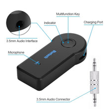 Load image into Gallery viewer, Wireless Bluetooth Receiver Adapter Dongle Mini 4.1 Stereo 3.5mm Jack for Car Computer Music Audio Aux For Headphone Handsfree