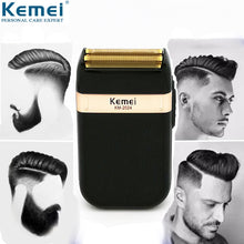 Load image into Gallery viewer, Kemei Electric Shaver for Men Twin Blade Waterproof Reciprocating Cordless Razor USB Rechargeable Shaving Machine Barber Trimmer