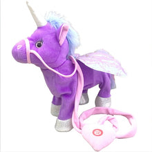 Load image into Gallery viewer, 35cm Electric Walking Unicorn Plush Toy Stuffed Animal Toy Electronic Music Unicorn Toy for Children Christmas Gifts 2018 Hot