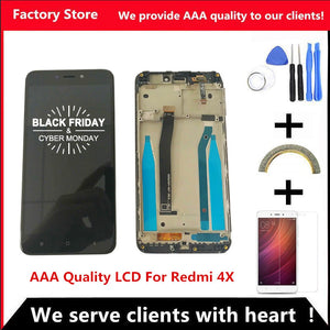 AAA Quality LCD+Frame For Xiaomi Redmi 4X LCD Display Screen Replacement For Redmi 4X Digiziter Assembly