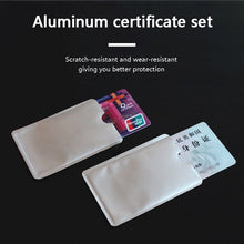 Load image into Gallery viewer, FGHGF 10pcs Silver Anti Scan RFID Sleeve Protector Credit ID Card Aluminum Foil Holder Anti-Scan Card Sleeve Hot Sale