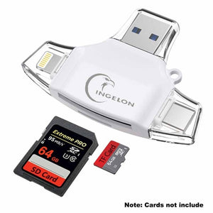 Ingelon Type C Micro SD Card Reader tipo C OTG USB C RS MMC Flash Memory idragon For iPhone iPad MacBook Adapter 4in1 SD Reader