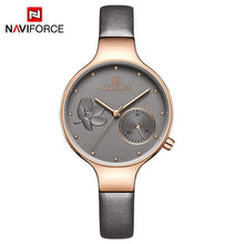 Load image into Gallery viewer, NAVIFORCE Women Watches Top Brand Luxury Fashion Female Quartz Wrist Watch Ladies Leather Waterproof Clock Girl Relogio Feminino