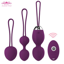Load image into Gallery viewer, 4 pcs Vaginal tighten Exercise Kegel Balls 10 Speed Vibrating eggs Silicone Ben wa ball G Spot Vibrator Erotic sex toy for Women