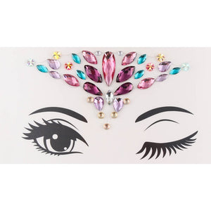 Temporary Tattoo Face Jewelry Gems Rhinestone Decoration Party Makeup Body Shining Festival Flash Tattoos Body Art Stickers