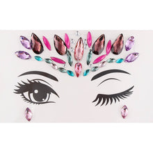 Load image into Gallery viewer, Temporary Tattoo Face Jewelry Gems Rhinestone Decoration Party Makeup Body Shining Festival Flash Tattoos Body Art Stickers