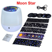 Load image into Gallery viewer, Colorful Starry Sky Projector Night Light Rotation Starry Moon Night Lamp USB Charging For Birthday Gift Romantic Baby Children