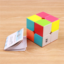 Load image into Gallery viewer, QIYI QIDI 2X2X2 MAGIC SPEED CUBE POCKET STICKERless PUZZLE CUBE PROFESSIONAL 2x2 SPEED CUBE EDUCATIONAL funny TOYS FOR CHILDREN