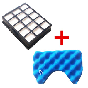 1PC Dust Hepa Filter & 1 Set Blue Sponge Filters Kit for Samsung DJ97-00492A SC6520 SC6530/40/50/60/70/80/90 SC68 Vacuum Cleaner