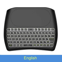 Load image into Gallery viewer, VONTAR Backlight D8 Pro Plus i8 English Russian 2.4GHz Wireless Mini Keyboard Air Mouse Touchpad Controller for Android TV BOX