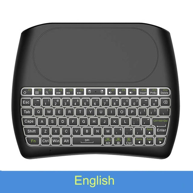 VONTAR Backlight D8 Pro Plus i8 English Russian 2.4GHz Wireless Mini Keyboard Air Mouse Touchpad Controller for Android TV BOX