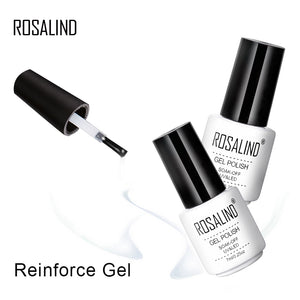 ROSALIND Top Base Coat Gel Polish UV Shiny Sealer Soak off Reinforce 7ml Long Lasting Nail Art Manicure Gel Lak Varnish Primer