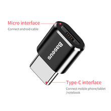 Load image into Gallery viewer, Baseus USB Type C OTG Adapter USB C Male To Micro USB Female Cable Converters For Macbook Samsung S10 Huawei USB To Type-c OTG