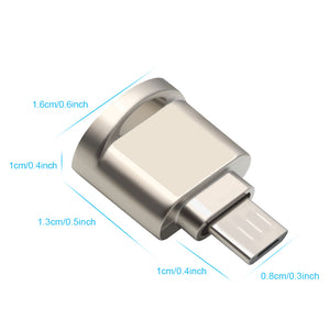 Rocketek micro usb 2.0 type c otg phone mini memory card reader adapter Aluminum cardreader for micro SD/TF microsd laptop