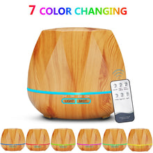 Load image into Gallery viewer, 500ML Remote Control Air Humidifier Essential Oil Diffuser Humidificador Mist Maker LED Aroma Diffusor Aromatherapy