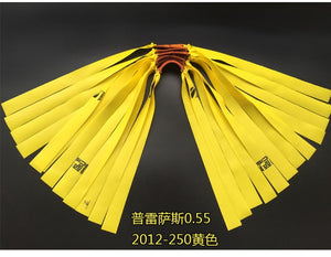 Slingshot hunting outdoor strong traditional natural rubber in flat leather tendons group Elastica Bungee Rubber Band