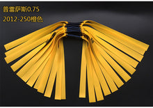 Load image into Gallery viewer, Slingshot hunting outdoor strong traditional natural rubber in flat leather tendons group Elastica Bungee Rubber Band