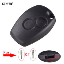 Load image into Gallery viewer, KEYYOU For Renault Megane Modus Espace Laguna Duster Logan DACIA Sandero Fluence Clio Kangoo 2 Button Remote Key Shell Case