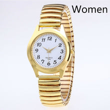 Load image into Gallery viewer, Fashion Business Women Men Elastic Gold Sliver Quartz Watch Tide Lovers Couple Party Office OL Bracelet Watches Gift