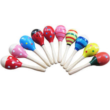 Load image into Gallery viewer, 1pc Baby Kid Wooden Ball Toy Sand Hammer Rattle Musical Instrument Percussion Infant