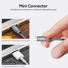 Load image into Gallery viewer, TOPK Micro USB Cable 2.4A Fast Data Sync Charging Cable For Samsung Huawei Xiaomi LG Andriod Microusb Mobile Phone Cables