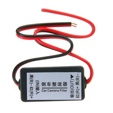 Load image into Gallery viewer, 1pc 12V DC Power Relay Capacitor Filter Connector Rectifier for Car Rear View Backup Camera Rectifier Auto Car Camera Filter