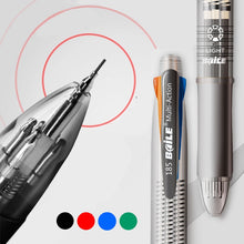 Load image into Gallery viewer, 5 in 1 Multicolor Ballpoint Pen Marker Pens With Black/Blue/Green/Red Ink Ball Pen 0.7mm+1PCS Automatic Pencil 0.5mm for Writing