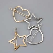 Load image into Gallery viewer, 1 PC New Fashion Women Girls Hairpins Girls Star Heart Hair Clip Delicate Hair Pin Hair Decorations Jewelry Accessories