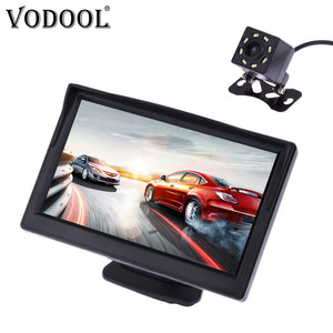 "VODOOL Car Rear View Camera Reversing Parking System Kit 5"" inch TFT LCD Rearview Monitor Waterproof Night Vision Backup Camera"