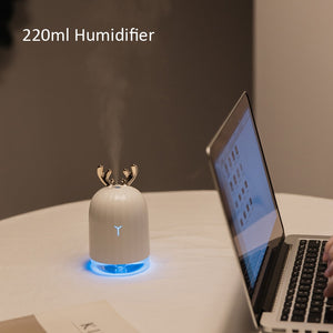KBAYBO 220ml USB Diffuser Aroma Essential Oil Humidifier Ultrasonic diffuser 7 Color Change LED Night light Cool Mist for home