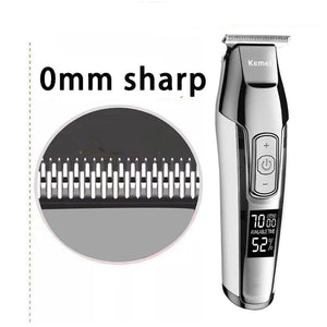 Kemei Barber Professional Hair Clipper LCD Display 0mm Baldheaded Beard Hair Trimmer for Men DIY Cutter Electric Haircut Machine