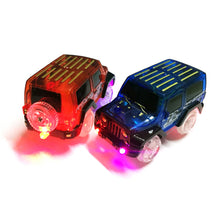 Load image into Gallery viewer, OCDAY Electronic Car Toy LED light up Cars for Glow Race Track Flashing Kid Railway Luminous Machine Track Car brinquedos