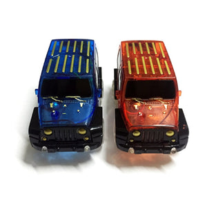 OCDAY Electronic Car Toy LED light up Cars for Glow Race Track Flashing Kid Railway Luminous Machine Track Car brinquedos