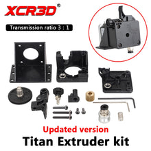 Load image into Gallery viewer, XCR3D Titan Extruder 3D Printer Parts For E3D V6 Hotend J-head Bowden Mounting Bracket 1.75mm Filament 3:1 transmission ratio