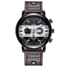 Load image into Gallery viewer, Men's watch Couple Leather Band Analog Quartz Round Business Wrist Watch Man watches mens 2019 relogios masculinos
