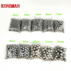 Shooting Steel Balls 5mm 6mm 7mm 8mm 9mm 10mm 11mm Hunting Slingshot Stainless AMMO outdoor   100pcs/lot