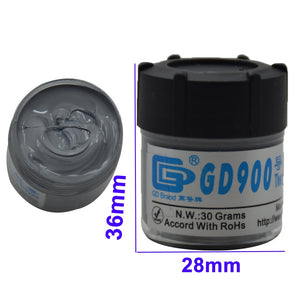 GD 30g Gray Nano GD900 Containing Silver Thermal Conductivity Grease Paste Silicone Heat Sink Compound 4.8W/M-K For CPU