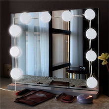 Load image into Gallery viewer, USB Powered Hollywood LED Mirror Light Makeup 5V Light Studio Bathroom Mirror Fill Light LED Bulb Cosmetic Dressing Table Lamp