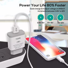 Load image into Gallery viewer, TOPK B126Q 18W Quick Charge 3.0 Fast Mobile Phone Charger EU Plug Wall USB Charger Adapter for iPhone Samsung Xiaomi Huawei