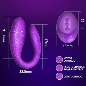 Wireless Vibrator Adult Toys For Couples USB Rechargeable Dildo G Spot U Silicone Stimulator Double Vibrators Sex Toy For Woman