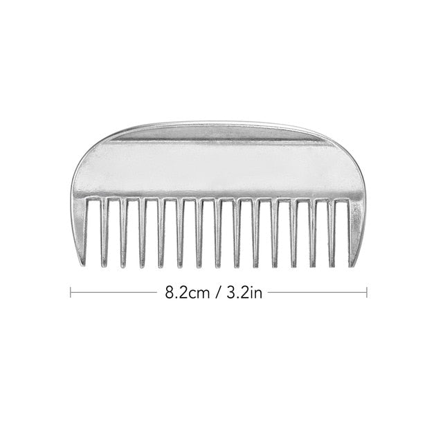Genuine Horse Comb Aluminum Alloy Horse Cleaning Tool Mane Tail Pulling Combs Grooming Equipment Horse Care Accessories 3.2-6.5