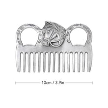 Load image into Gallery viewer, Genuine Horse Comb Aluminum Alloy Horse Cleaning Tool Mane Tail Pulling Combs Grooming Equipment Horse Care Accessories 3.2-6.5""