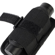 Load image into Gallery viewer, Flashlight Holster Belt Carry Case Flashlight Pouch Holster for Duty belt Holder with Molle System 360 Degree Rotatable Clip