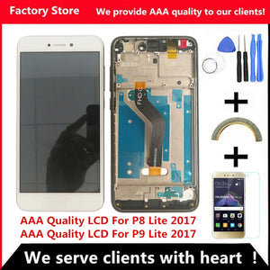 AAA Quality LCD+Frame For HUAWEI P8 Lite 2017 Lcd Display Screen Replacement For Huawei P9 Lite 2017 LCD SCreen PRA-LA1 PRA-LX1