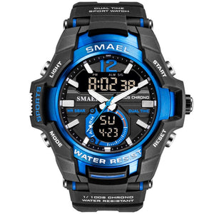 SMAEL 2019 Men Watches Fashion Sport Super Cool Quartz LED Digital Watch 50M Waterproof Wristwatch Men's Clock Relogio Masculino